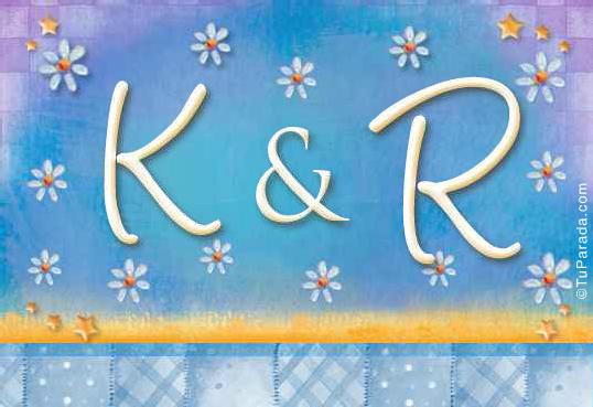 Tarjeta de iniciales K - R