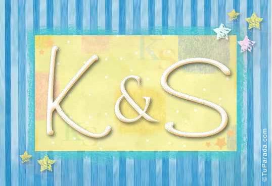 Tarjeta de iniciales K - S