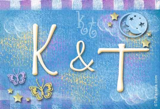 Tarjeta de iniciales K - T