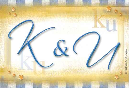 Tarjeta de iniciales K - U