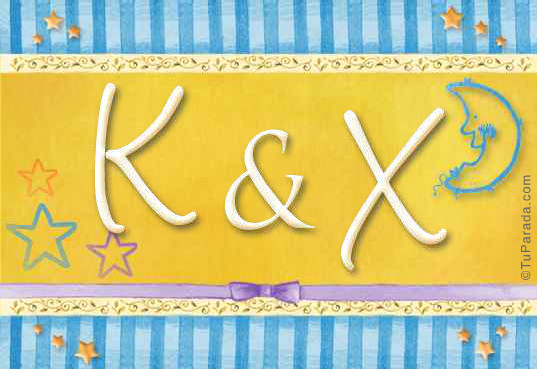 Tarjeta de iniciales K - X