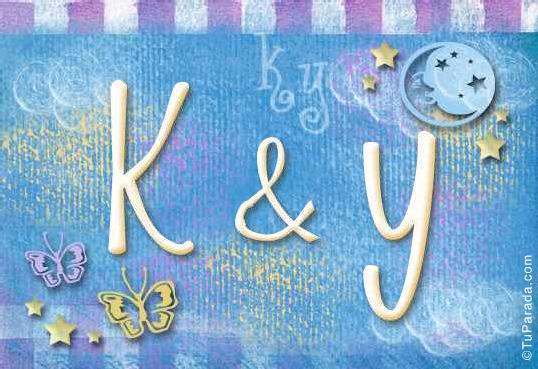 Tarjeta de iniciales K - Y