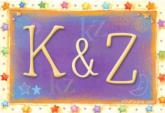 Tarjeta de iniciales K - Z