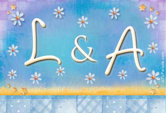 Tarjeta de iniciales L - A