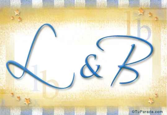 Tarjeta de iniciales L - B