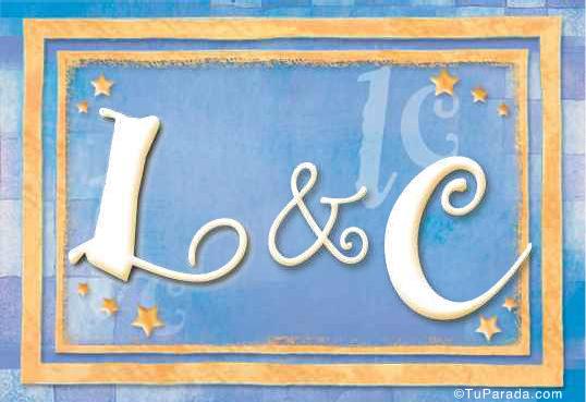 Tarjeta de iniciales L - C