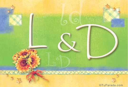 Tarjeta de iniciales L - D