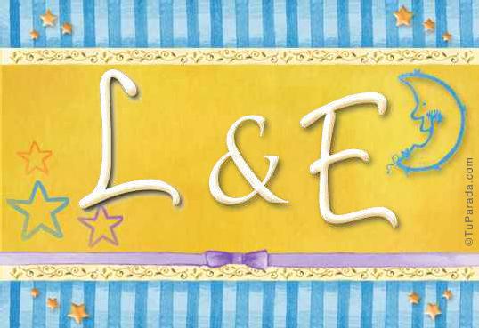 Tarjeta de iniciales L - E