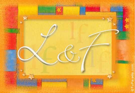 Tarjeta de iniciales L - F