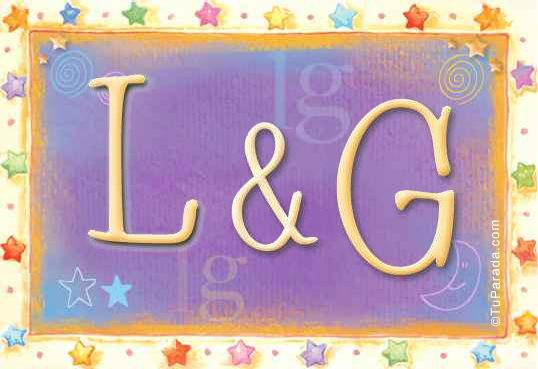 Tarjeta de iniciales L - G
