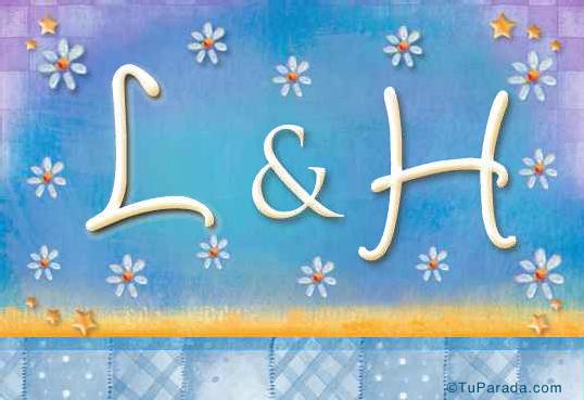 Tarjeta de iniciales L - H