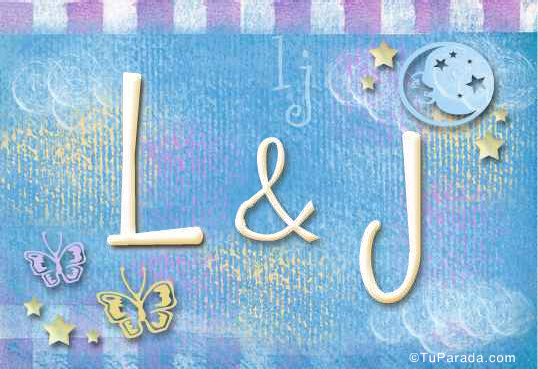 Tarjeta de iniciales L - J