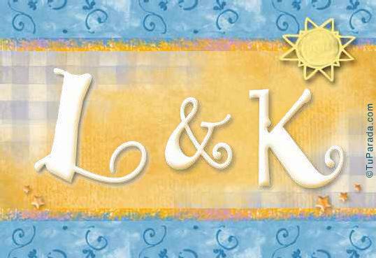 Tarjeta de iniciales L - K