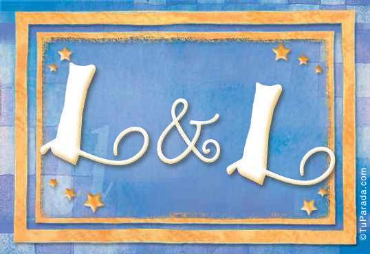 Tarjeta de iniciales L - L