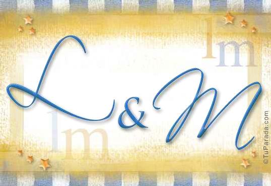 Tarjeta de iniciales L - M