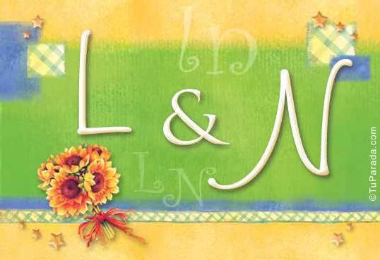Tarjeta de iniciales L - N