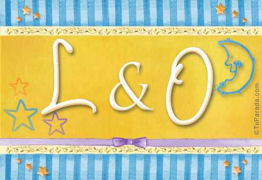 Tarjeta de iniciales L - O