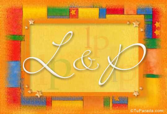 Tarjeta de iniciales L - P