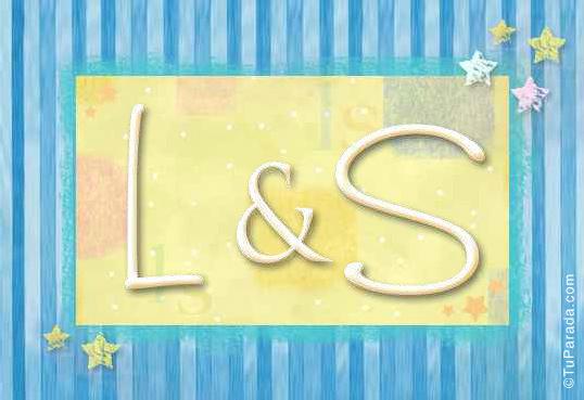 Tarjeta de iniciales L - S