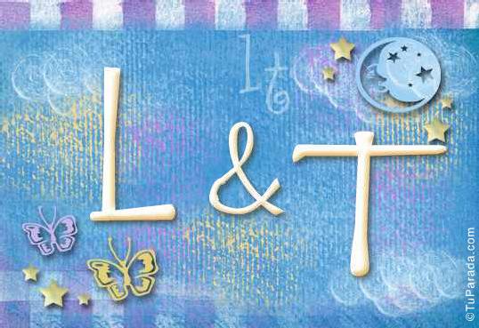 Tarjeta de iniciales L - T