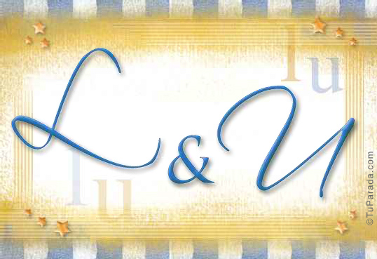 Tarjeta de iniciales L - U