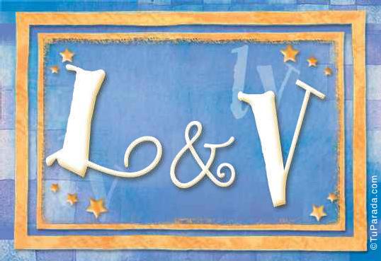 Tarjeta de iniciales L - V