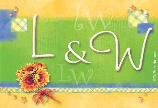 Tarjeta de iniciales L - W