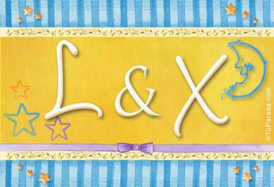 Tarjeta de iniciales L - X