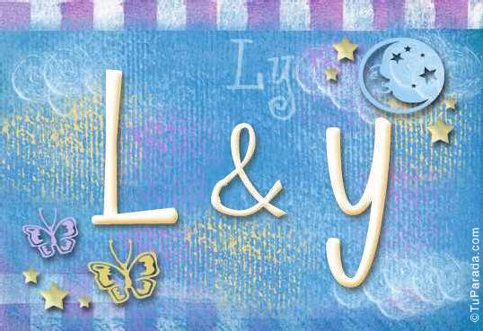 Tarjeta de iniciales L - Y