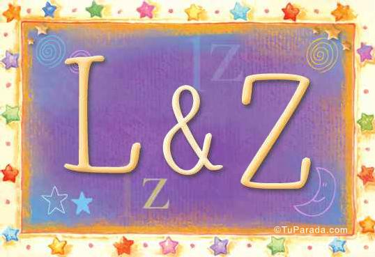 Tarjeta de iniciales L - Z