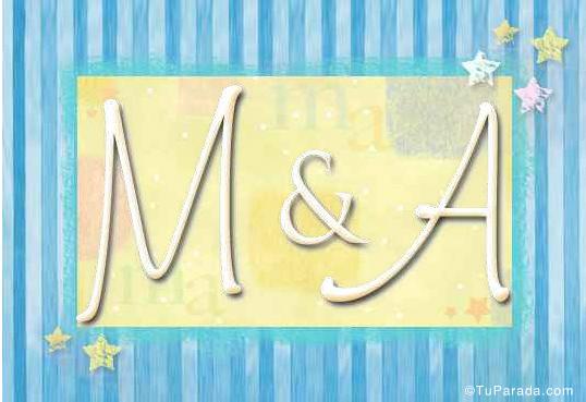 Tarjeta de iniciales M - A