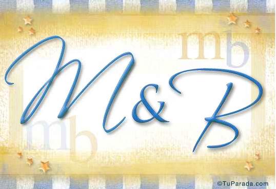 Tarjeta de iniciales M - B
