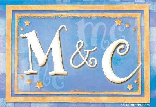 Tarjeta de iniciales M - C