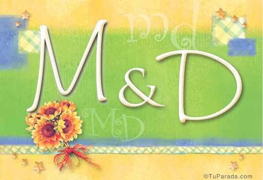 Tarjeta de iniciales M - D