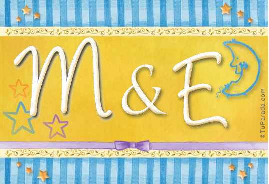 Tarjeta de iniciales M - E