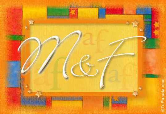 Tarjeta de iniciales M - F