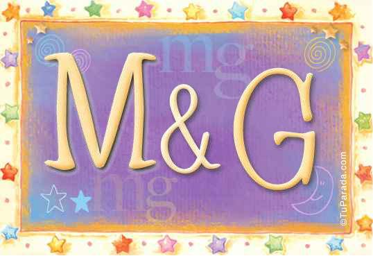 Tarjeta de iniciales M - G