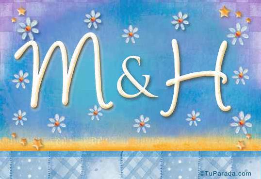 Tarjeta de iniciales M - H