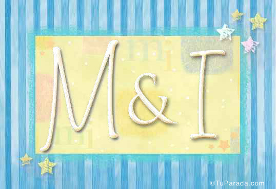 Tarjeta de iniciales M - I