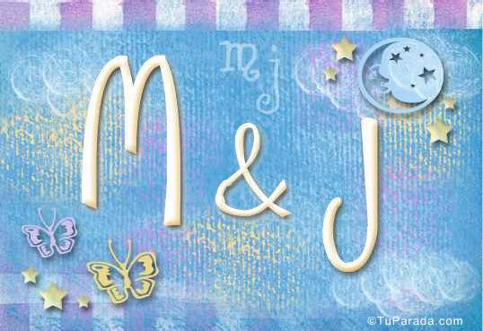 Tarjeta de iniciales M - J
