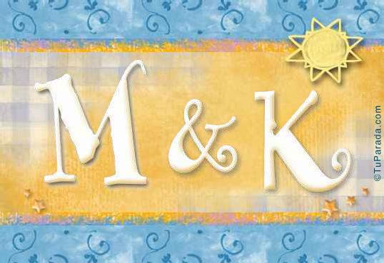 Tarjeta de iniciales M - K