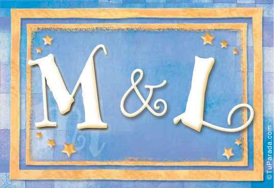 Tarjeta de iniciales M - L