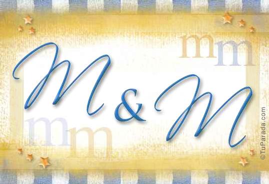 Tarjeta de iniciales M - M