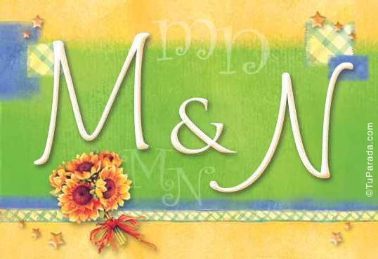 Tarjeta de iniciales M - N