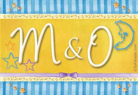 Tarjeta de iniciales M - O