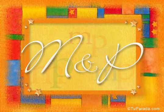 Tarjeta de iniciales M - P