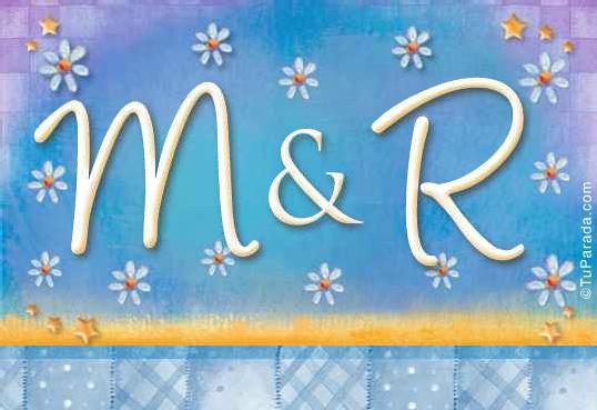 Tarjeta de iniciales M - R
