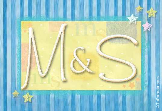 Tarjeta de iniciales M - S