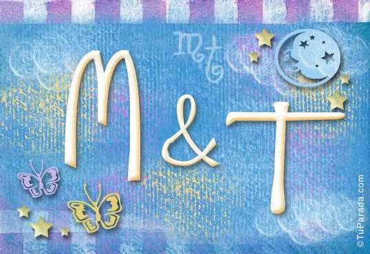 Tarjeta de iniciales M - T
