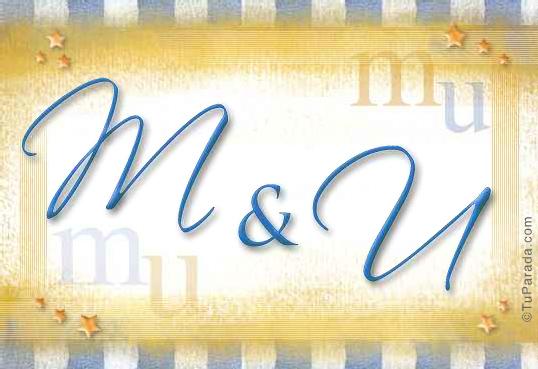 Tarjeta de iniciales M - U